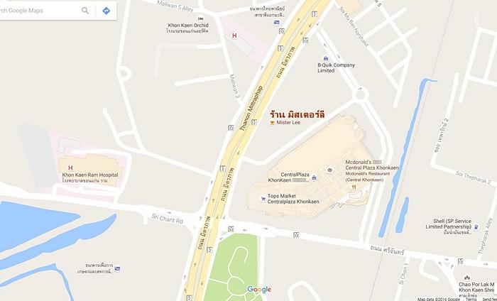 แผนที่ร้านมิสเตอร์ลี