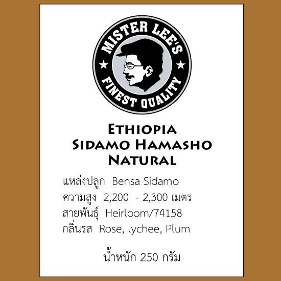 เมล็ดกาแฟคั่ว Ethiopia Sidamo Hamasho