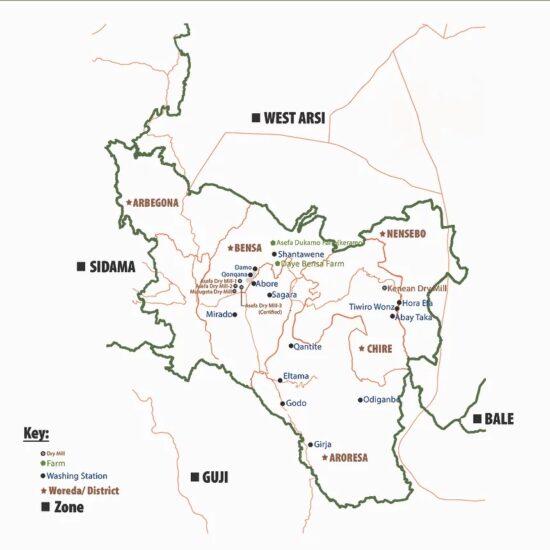 Daye Bensa Map
